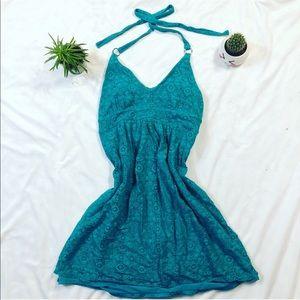 Victoria Secret's Bra Top Turquoise Mini Dress